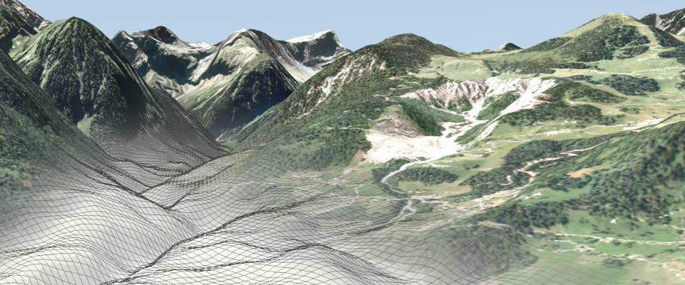Alpine 3D-Visualiserung